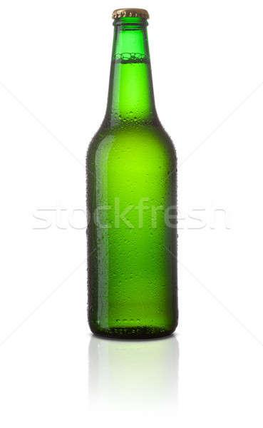 Cerveja vidro verde garrafa luz bar Foto stock © Alexstar
