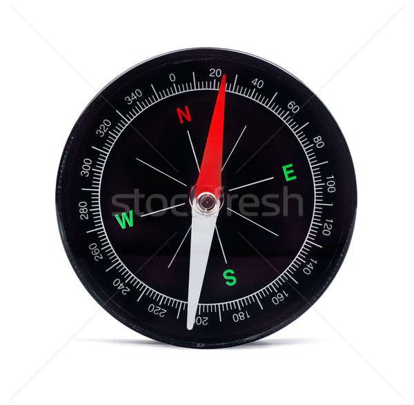 Bússola branco retro objeto círculo direção Foto stock © Alexstar
