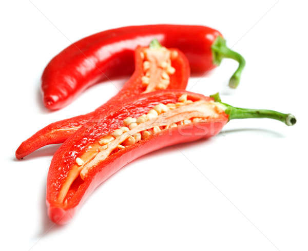 Red chilly peppers Stock photo © Alexstar