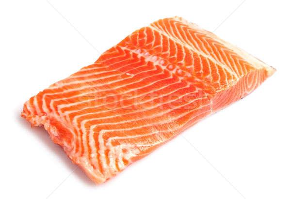Salmão filé branco peixe laranja mercado Foto stock © Alexstar