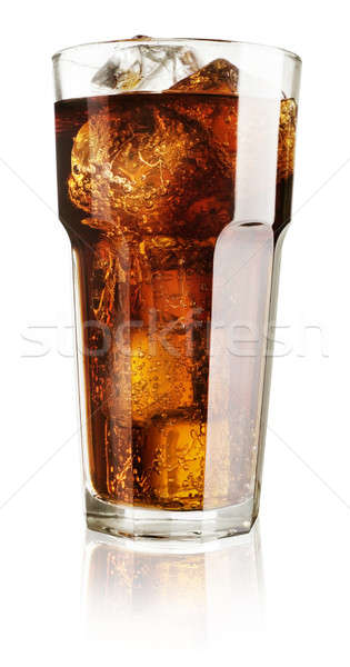 Cola vidro gelo branco escuro bolha Foto stock © Alexstar