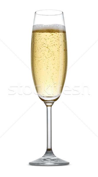 Champanhe vidro branco festa beber álcool Foto stock © Alexstar