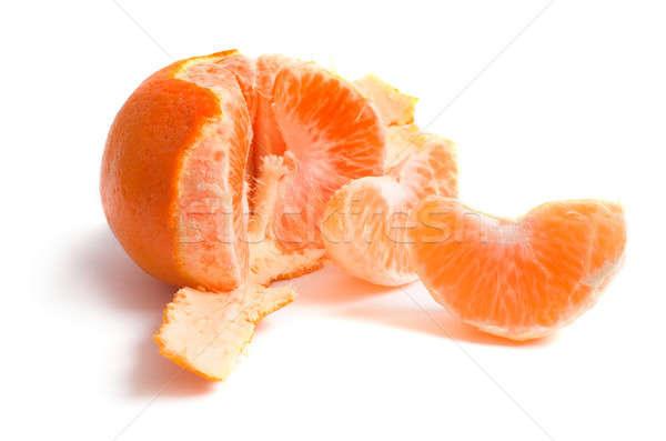 Tangerina maduro branco laranja vida sobremesa Foto stock © Alexstar