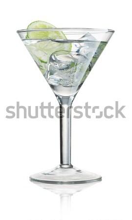 Koktél üveg fehér ital alkohol martini Stock fotó © Alexstar