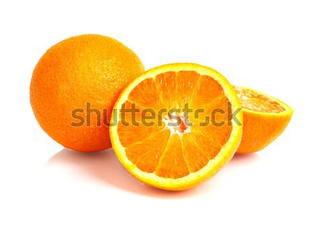 Narancsok fehér étel háttér eszik trópusi Stock fotó © Alexstar