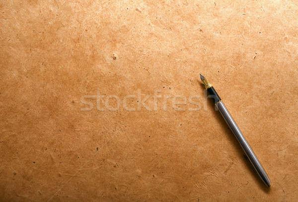 Caneta-tinteiro vintage papel Foto stock © Alexstar