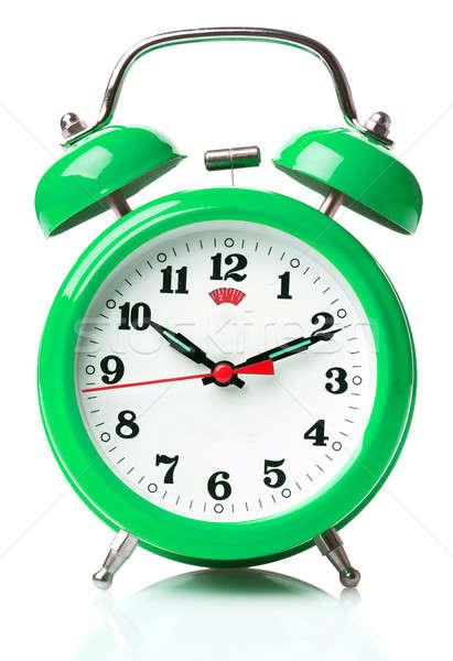 Despertador metal verde tempo preto ver Foto stock © Alexstar
