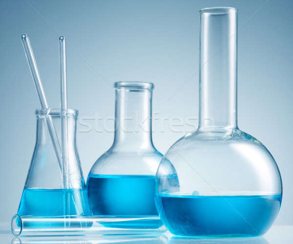 Stockfoto: Laboratorium · glaswerk · geneeskunde · industrie · lab · chemie
