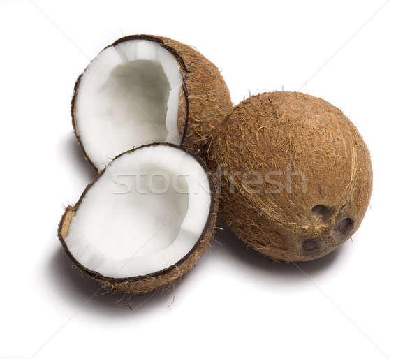 Kókuszdió étel természet ital élet fehér Stock fotó © Alexstar