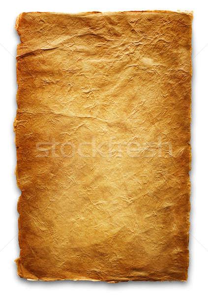 Papír lap kézzel készített háttér fehér irat Stock fotó © Alexstar