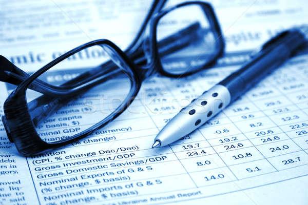 Business relazione pen finanziare mercato successo Foto d'archivio © Alexstar