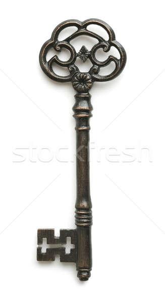 Klasszikus kulcs fehér fém acél mágikus Stock fotó © Alexstar