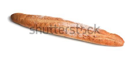 Francia kenyér francia étel gabonapehely pékség izolált Stock fotó © Alexstar