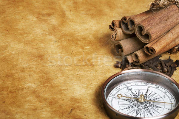 Compass and spices Stock photo © Alexstar