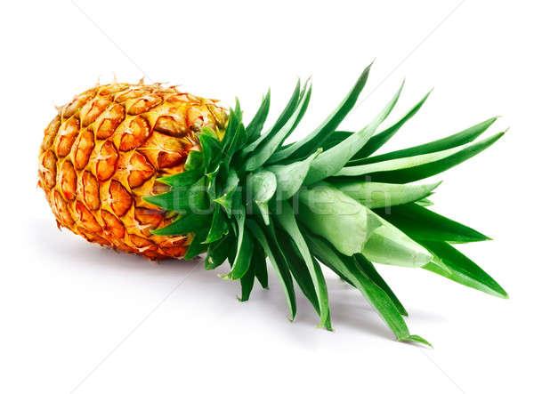 Ananás branco comida fundo laranja planta Foto stock © Alexstar