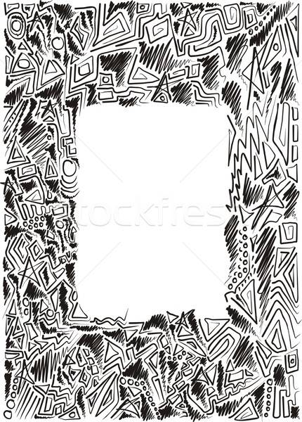 doodle hand-drawn frame Stock photo © Aliftin