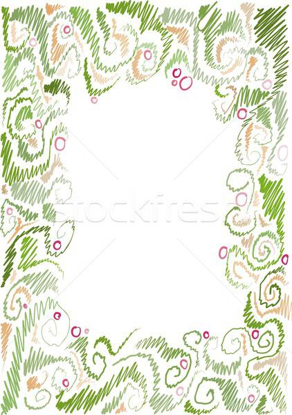 floral hand-drawn frame Stock photo © Aliftin