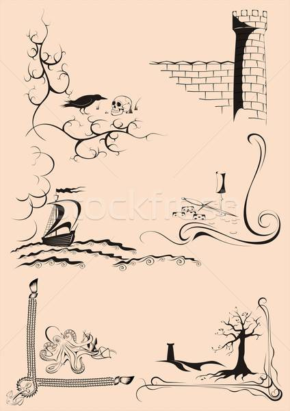 Decorative corner stories Stock photo © Aliftin