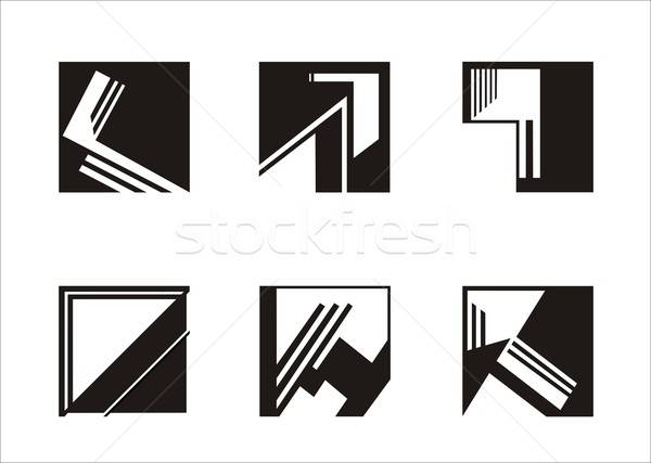 logo square Stock photo © Aliftin