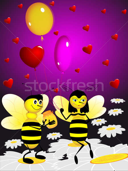 Two bees Stock photo © Alina12