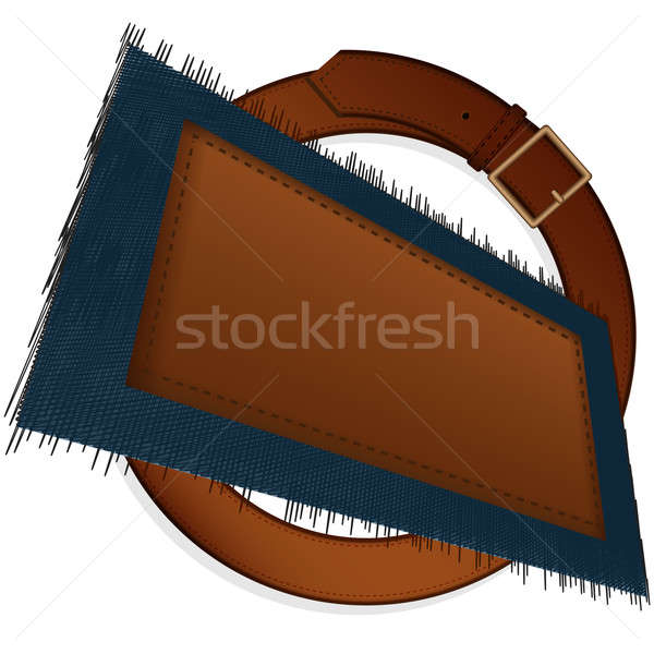 Belt and label Stock photo © Alina12