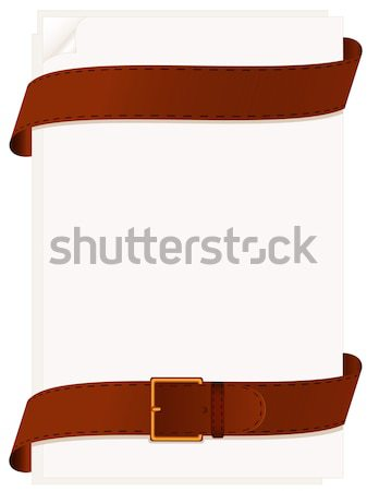 Paper and belt Stock photo © Alina12