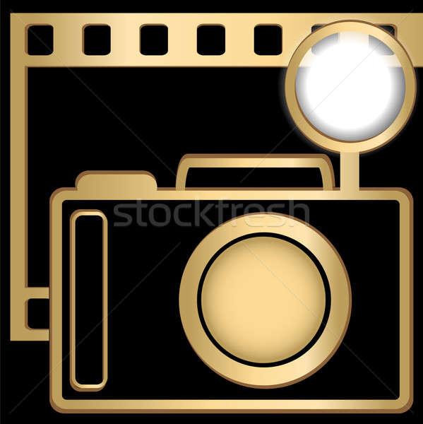 Fotocamera slide film colore nero Foto d'archivio © Alina12