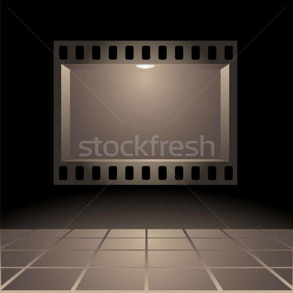 Stock photo: Cinemas board