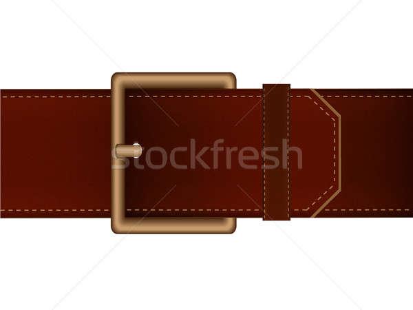 Stok fotoğraf: Kemer · kahverengi · renk · Metal · plaka · pantolon