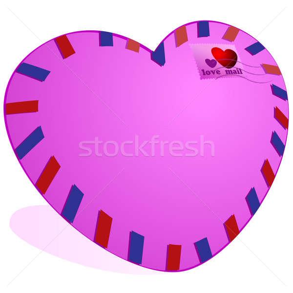 почты любви пост конверт розовый цвета Сток-фото © Alina12