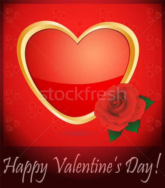 карт влюбленный сердце закрывается красный Сток-фото © Alina12