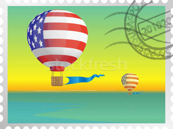 Stamp with the image of balloons Stock photo © Alina12