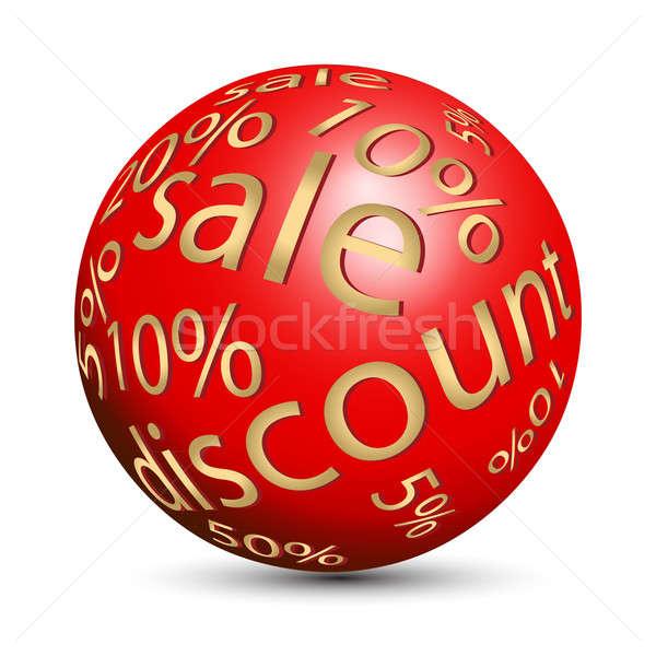 Esfera por cento vermelho cor negócio bola Foto stock © Alina12