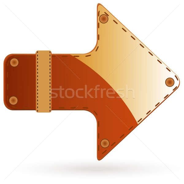 Stock photo: Leather arrow