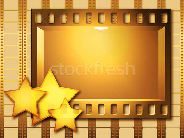 Gold movie Stock photo © Alina12
