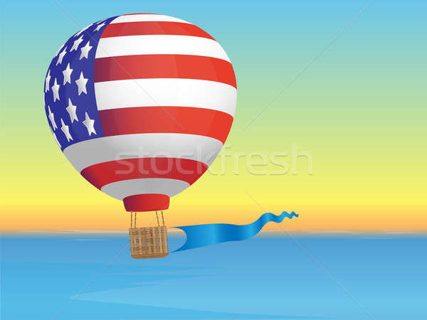 Balloon and sea landscape Stock photo © Alina12