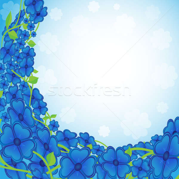 Blue flower Stock photo © Alina12