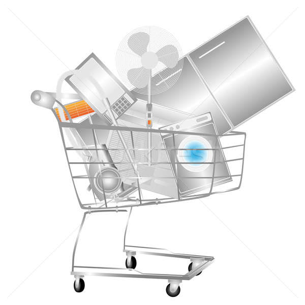 Electrical household appliances on the cart Stock photo © Alina12