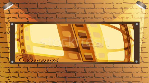 Brick wall and board Stock photo © Alina12