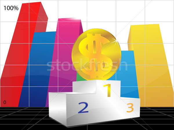 Dollar and pedestal Stock photo © Alina12