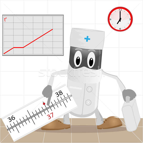 The doctor and thermometer Stock photo © Alina12