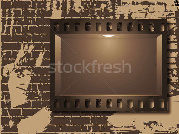 Film and wall Stock photo © Alina12