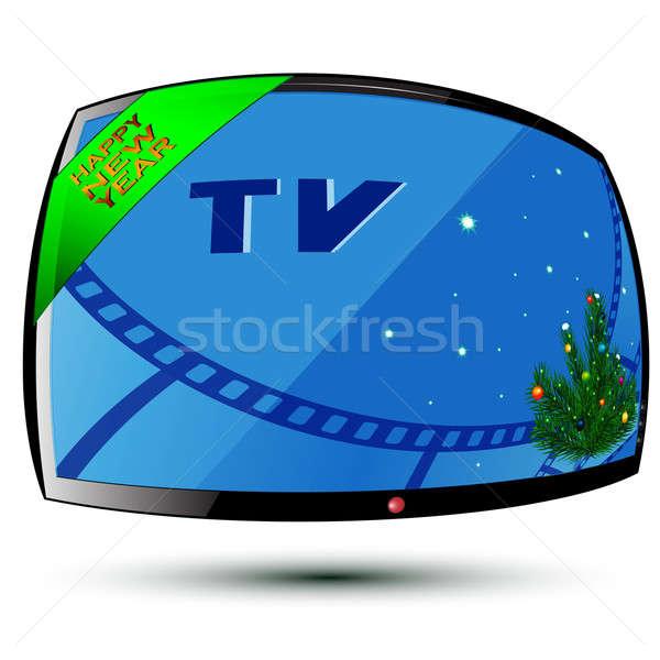 New Year and TV Stock photo © Alina12