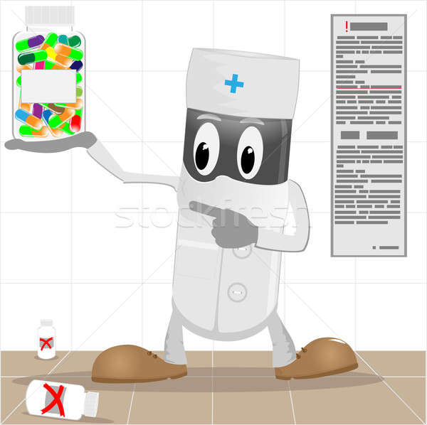The doctor and pills in packing Stock photo © Alina12