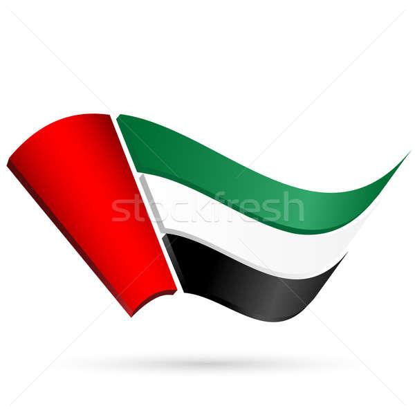 Flag of the United Arab Emirates Stock photo © Alina12