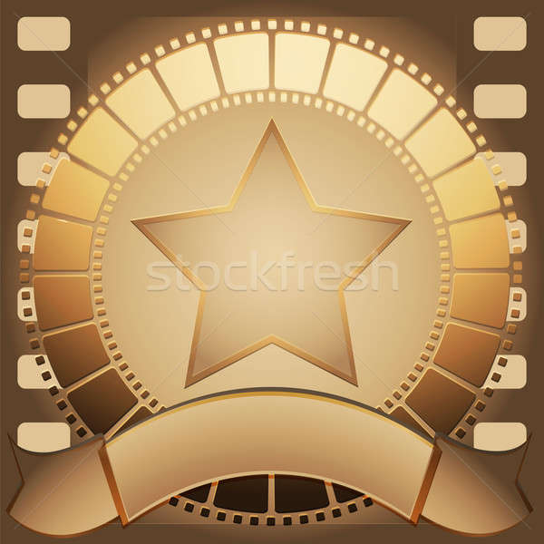 Cinema star and banner Stock photo © Alina12