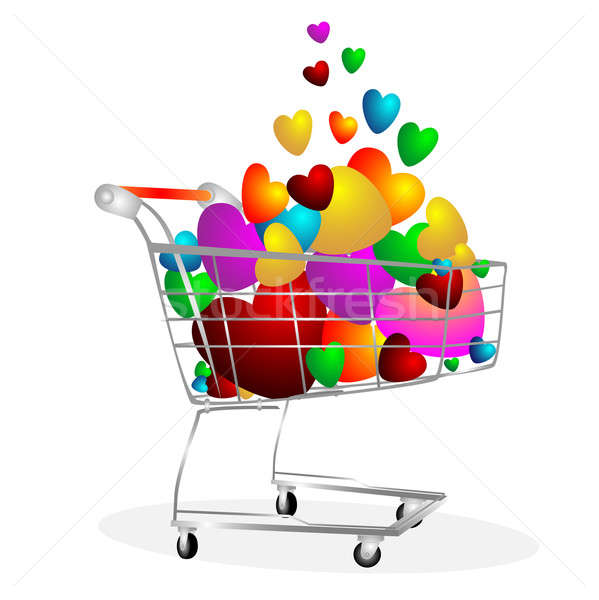 Hearts in the cart Stock photo © Alina12