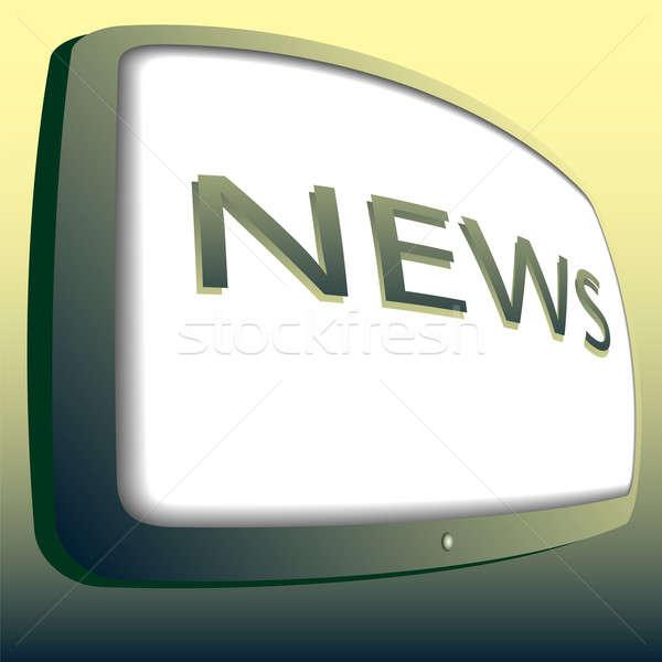 Icon news Stock photo © Alina12