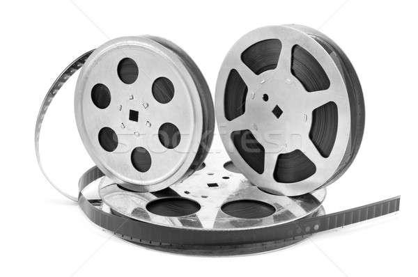 Oude filmstrip witte geïsoleerd film achtergrond Stockfoto © alinamd
