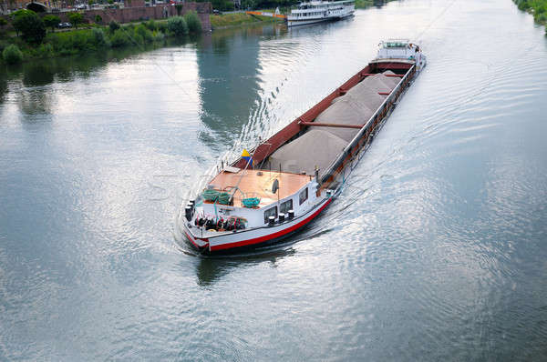 barge with cargo on river Stock photo © alinamd